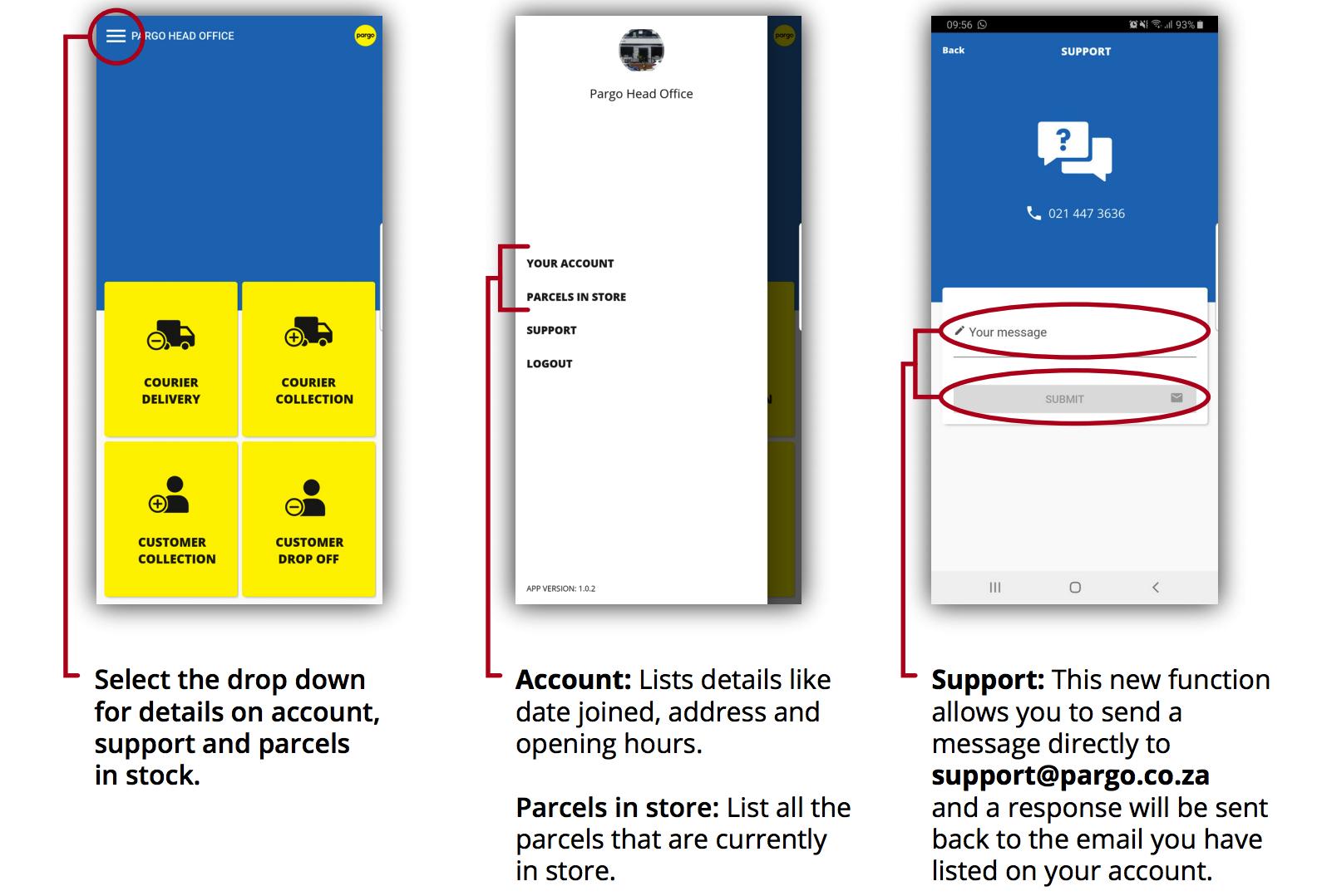 New Pargo App: How To Guide | Pargo
